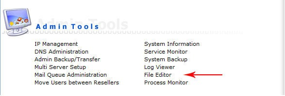 file editor-تغییر پورت دایرکت ادمین
