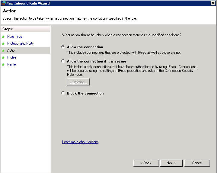 allow connection-آموزش باز کردن پورت در ویندوز