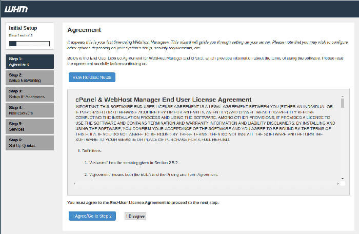 license agreement-آموزش نصب cpanel