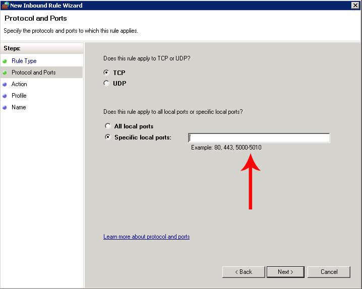 port-آموزش باز کردن پورت در ویندوز