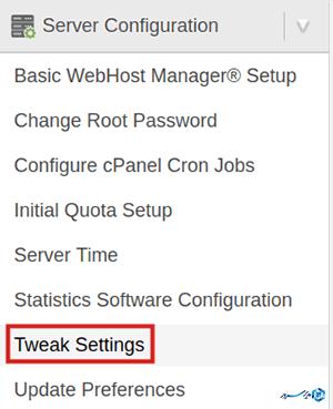 tweak settings