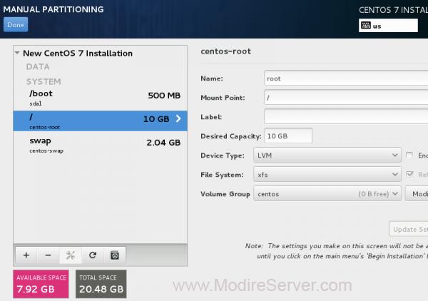 create partition-آموزش نصب لینوکس