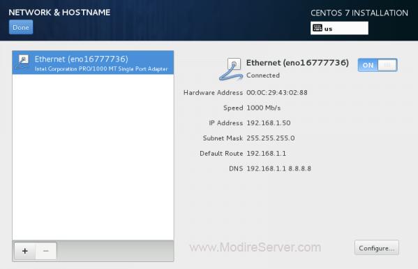 config network-آموزش نصب لینوکس
