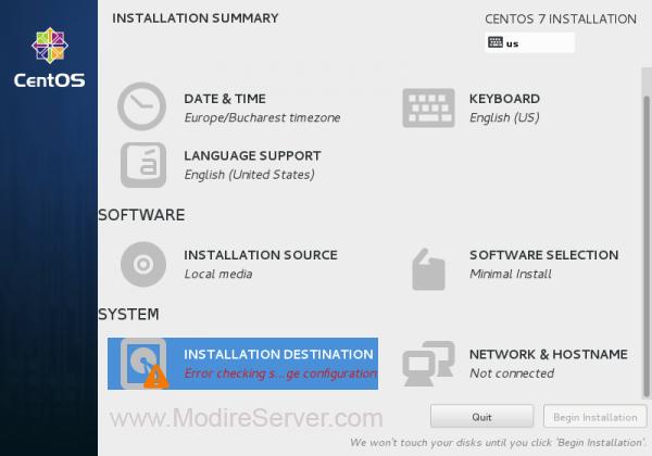 destination-آموزش نصب لینوکس