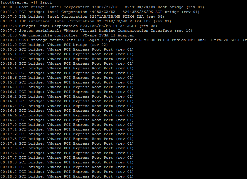 lspci command-آموزش دستورات لینوکس