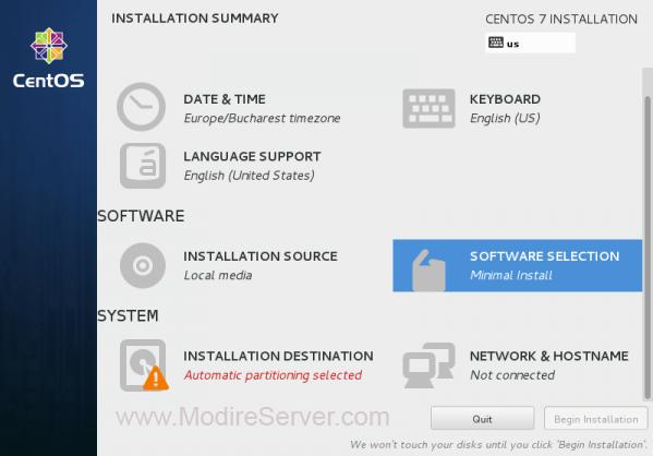 software selection-آموزش نصب لینوکس