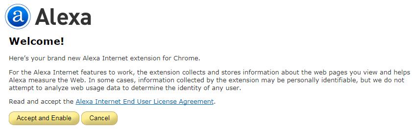 accept and enable-نصب تولبار الکسا برای گوگل کروم