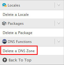 delete dns zone-رفع خطا the domain already exists in the apache configuration