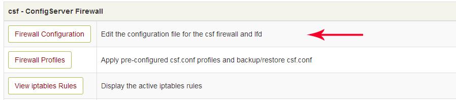 firewall configuration-باز کردن پورت در csf
