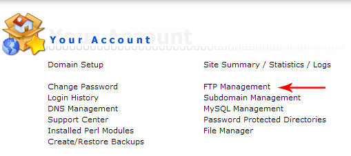 ftp mangement - Create ftp account in the admin directory