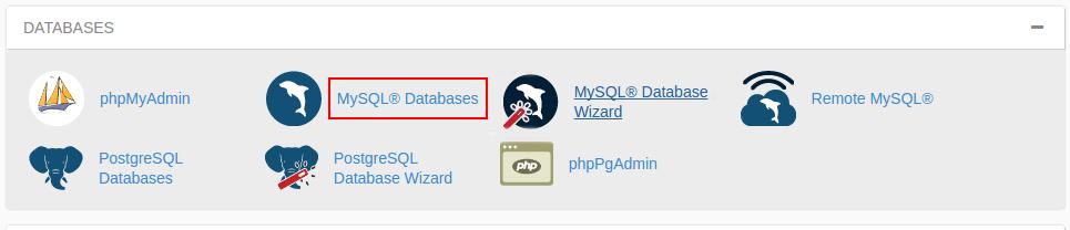 mysql database cpanel-آموزش ساخت دیتابیس در mysql