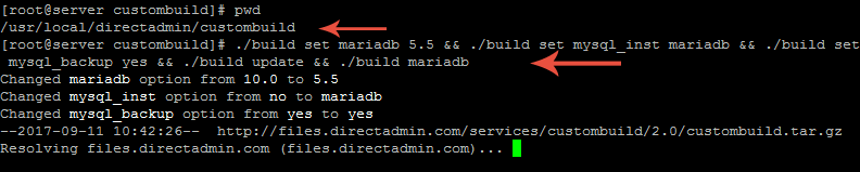 upgrade to mariadb-ارتقا mysql به mariadb در دایرکت ادمین