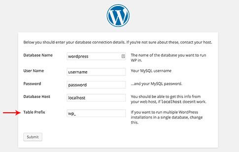 install wordpress - WordPress security