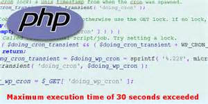 solve maximum execution time of 30 seconds exceeded