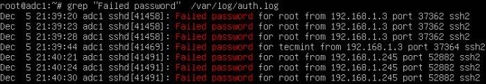 failed login-شناسایی تلاشهای ناموفق برای لاگین به ssh