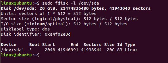 پارتیشن بندی در لینوکس با دستور fdisk