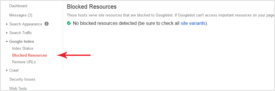 blocked resources