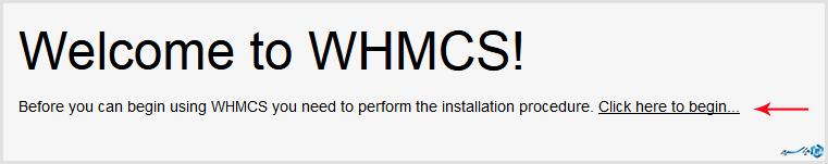 شروع نصب whmcs