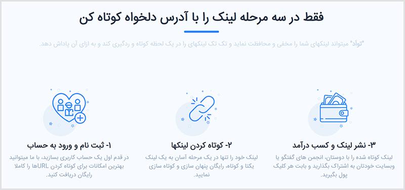 کسب درآمد از کوتاه کننده لینک